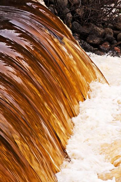 Dam on Butler Creek beside Tacan Road in Moosonee, Ontario