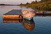 Taxi boat at public docks in Moosonee
