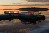 Taxi boats at public docks in Moosonee just after dawn 2008 June 21