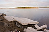 May 10, 2008 ice along the shore of the Moose River in Moosonee, Ontario