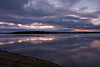 Cloudy sunrise 2008 May 29 looking towards Butler Island across the Moose River from Moosonee, Ontario. enhanced saturation