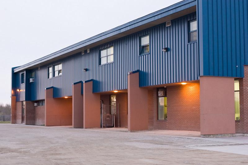 Side of two storey section of Moosonee Public School