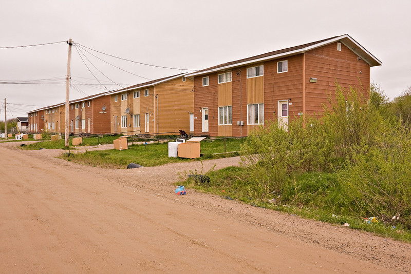 Wavey Crescent from its northern intersection with Ferguson Road South in Moosonee