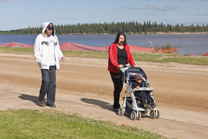 Joshua, Jewel and Lashaun out for a walk