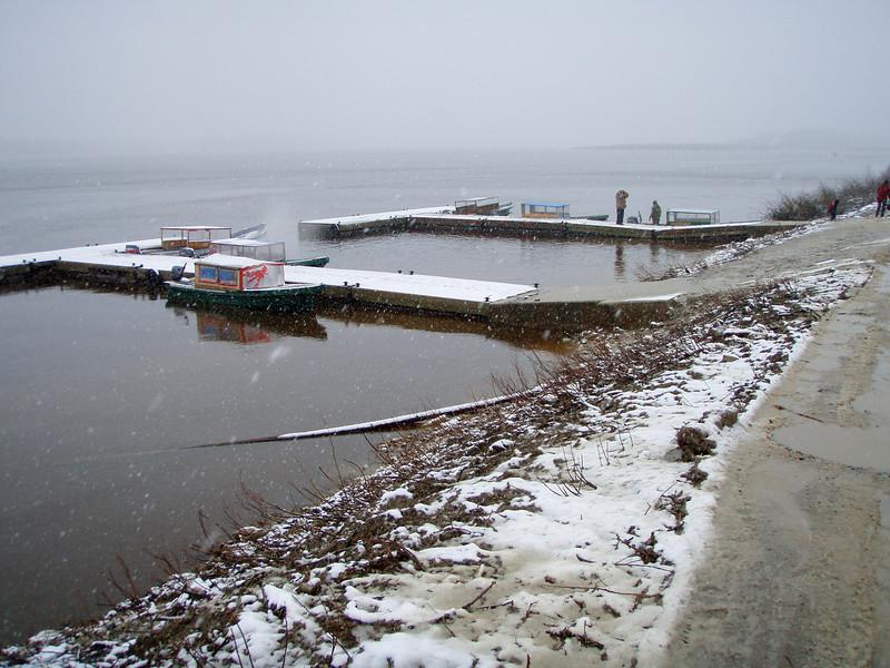 Public docks in Moosonee 2008 May 19