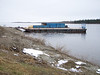 Coastal barges used to transport goods north from Moosonee