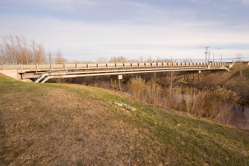 Ferguson Road bridge over Store Creek in Moosonee, view from near fire hall