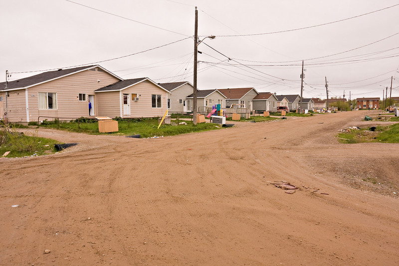 Moose Drive (Western side) from its southern intersection with Wavey Crescent in Moosonee, Ontario