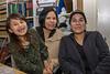 Meridian, Loretta and Donna 2008 June 27 in library at Keewaytinok Native Legal Services in Moosonee.