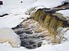 2009 December 27th: Water running at Store Creek dam in Moosonee.