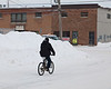 2010 December 29: Cyclist on Ferguson Road.