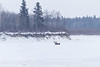 Snowmobile on the Moose River near south end of Butler Island.