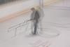 Flooding the ice at Moosonee arena.