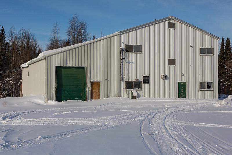 Old water treatment plant in Moosonee.
