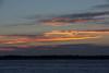 Sky across the Moose River from Moosonee shortly before sunrise.