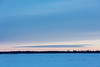 Pointy cloud across the Moose River from Moosonee.