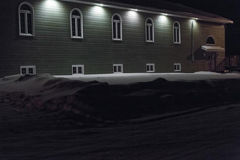 Moosonee Pentecostal Church from Butcher Street.