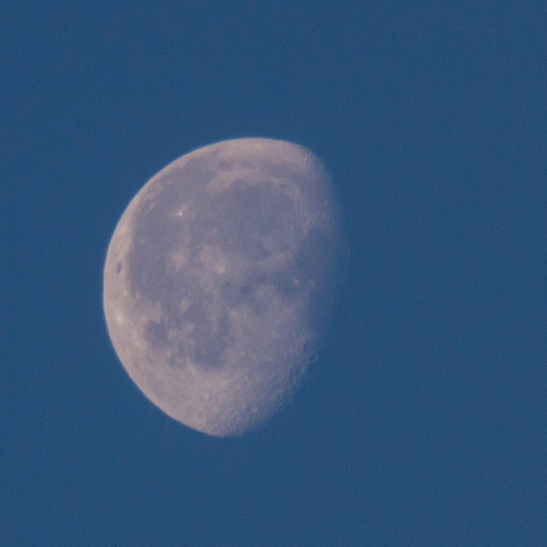 Moon in the morning sky.