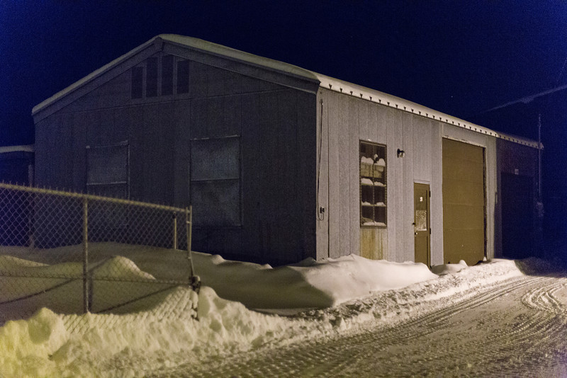 Shed at Ontario Government Building in Moosonee.