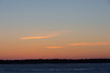 A few clouds across the Moose River from Moosonee before sunrise.