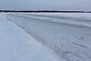 Road to Moose Factory from Moosonee.
