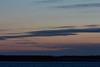 Looking across the Moose River from Moosonee before sunrise.