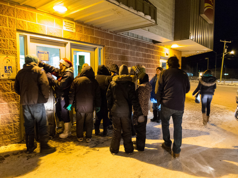 Waiting outside Northern for doors to open for Midnight Madness.