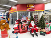 Santa Claus waiting for children at Northern in Moosonee.