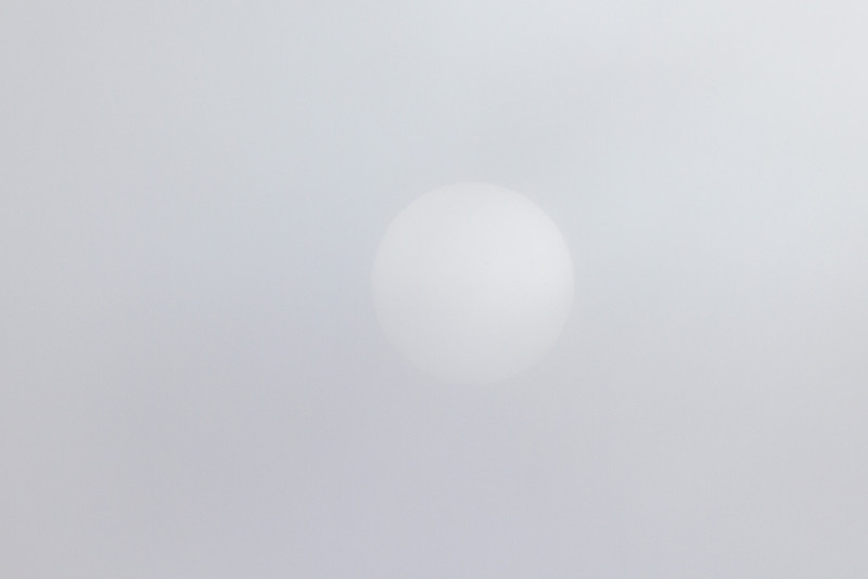 Sun on a cloudy day.