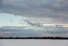 View across the Moose River from Moosonee to Charles Island (Tidewater Park).