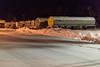 Fuel trailers on Ferguson Road in Moosonee.