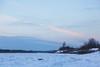 View up the Moose River shoreline in Moosonee.