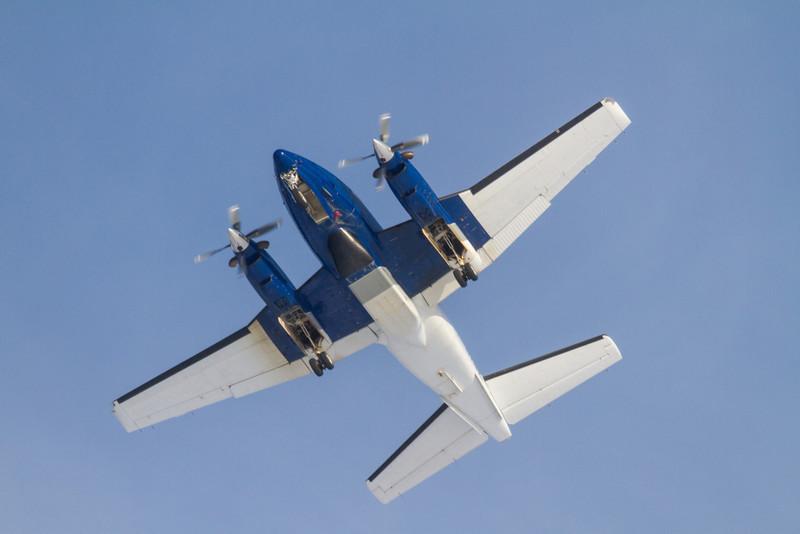 Aircraft overhead.