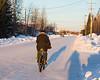 Bicycle on Ferguson Road in Moosonee.