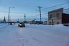 First Street in Moosonee. No Christmas decorations visible.
