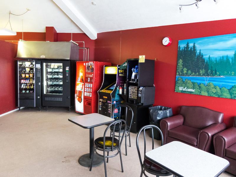 Lounge at Moosonee Airport.