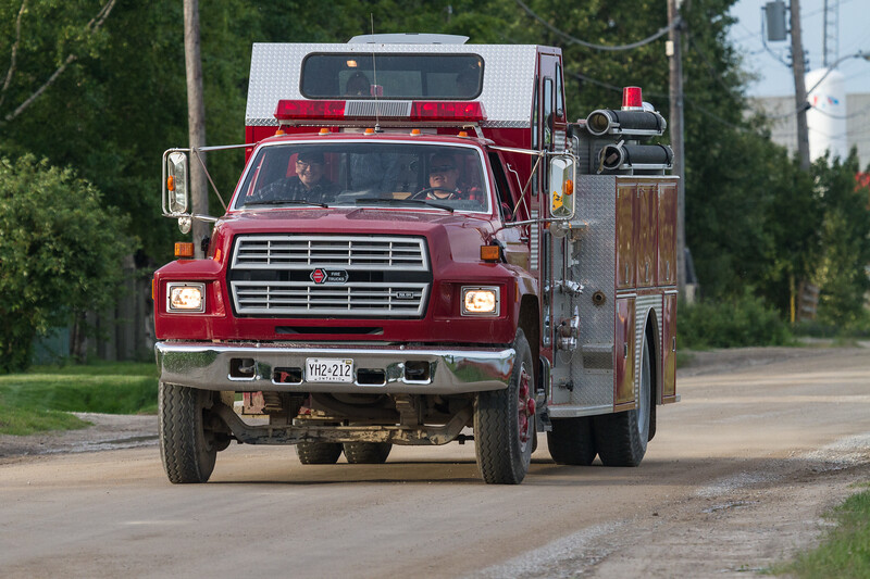 Moosonee fire truck on Revillon Road.