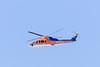 ORNGE ambulance helicopter C-FABH over Moosonee.