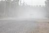 Dusty streets of Moosonee. Ferguson Road.