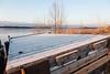 Frost on dock section in Moosonee.