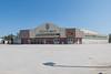 Northern Store in Moosonee, empty parking lot.