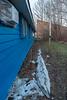 Backyard snow at Keewaytinok Native Legal Services.