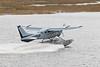 Bushland Airways Cessba U-206E C-FBGB taking off from the Moose River at Moosonee.