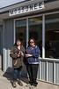 Jill Johns and Denise Lantz at Moosonee Train Station.