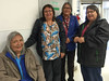 Agnes Tookate, Lucy Sutherland, Elizabeth Linklater and Rita Nakogee at Moosonee Northern Store. Four sisters.