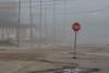 First Street in Moosonee on a foggy morning.