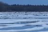View up the Moose River at Moosonee around sunrise.p