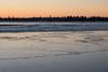 Ice on the Moose River at Moosonee.