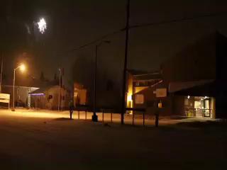 New Year's Eve 2015 December 31st on Revillon Road in Moosonee, Ontario. Fireworks, a few gunshots.