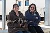 Jill Johns and Denize Lantz at Moosonee Train Station.